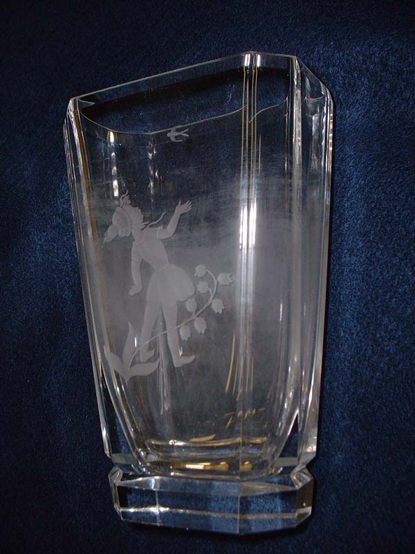 Sick Orrefors Crystal Vase Before