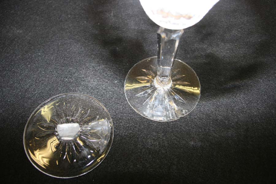 Waterford Wine Glass With Large Chip