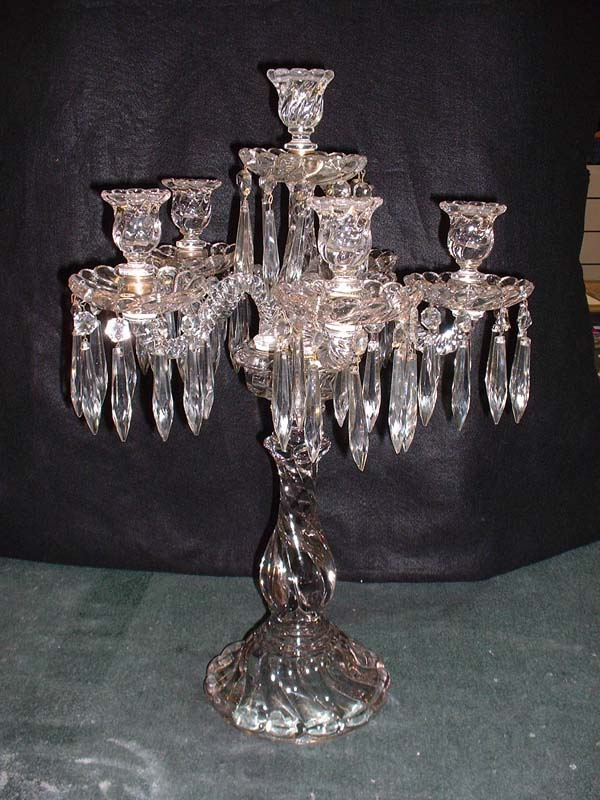 Baccarat candelabra tags antique crystal repair