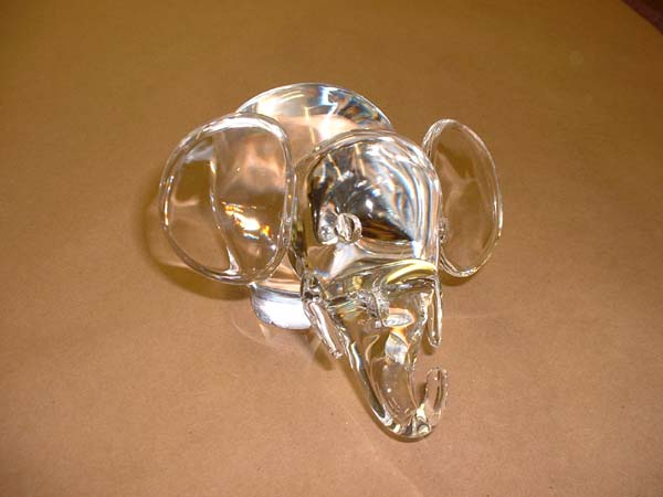 Steuben Crystal Figurine With New Ears