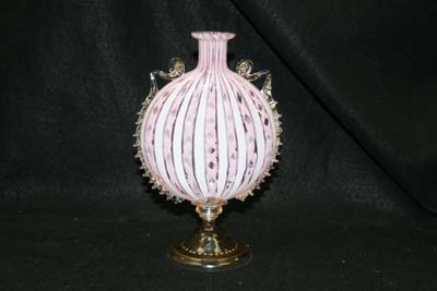 Venetian Glass Decanter New Foot