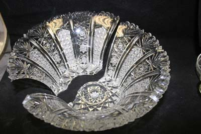 antique cut glass bowl