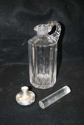 antique crystal decanter missing stopper