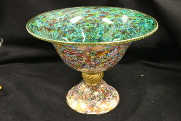 "Venetian Glass Bowl "" Millefiore"""