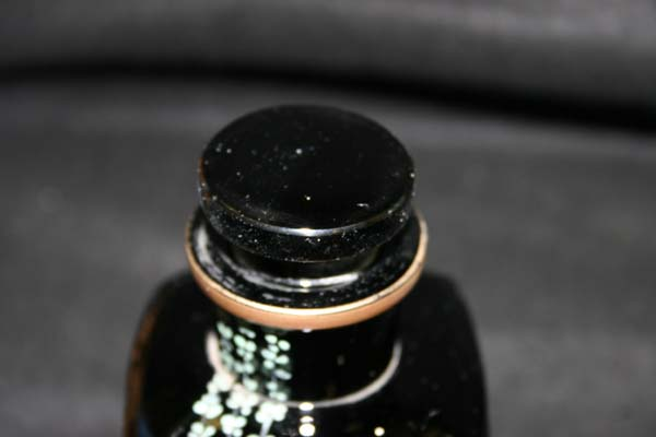 Antique Glass Bottle with repaired stopper