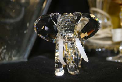crystal elephant with new tusk