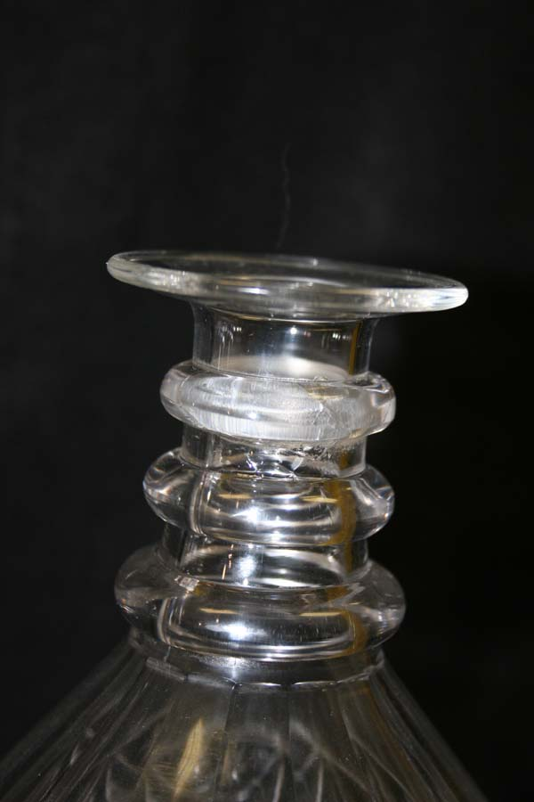 cut glass decanter with new neck