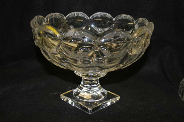 antique cut glass compote