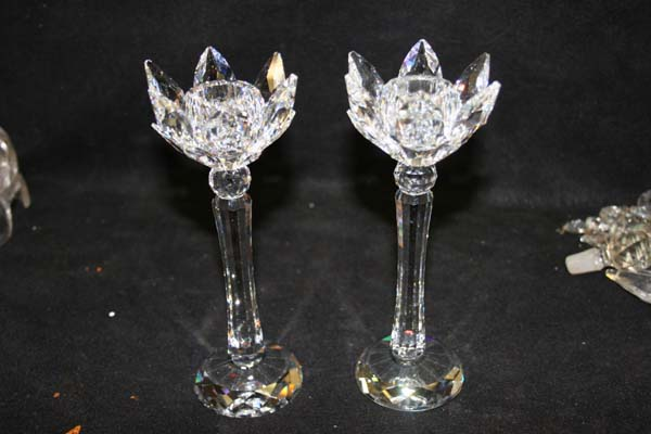 repaired swavorski crystal candlestick