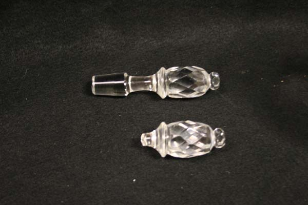 crystal repair  antique glass stopper