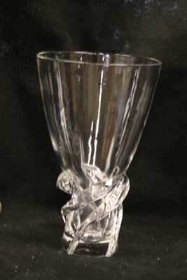 Steuben Crystal Vase after Polish of scratches