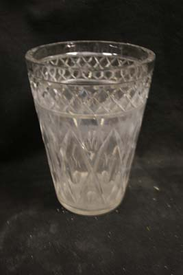 cloudy crystal vase sick glass