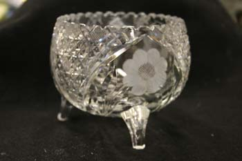 Antique crystal bowl polish out scratches