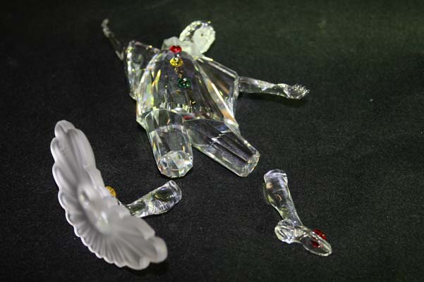 lead crystal figurine repair