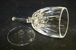 Waterford Glass with broken stem