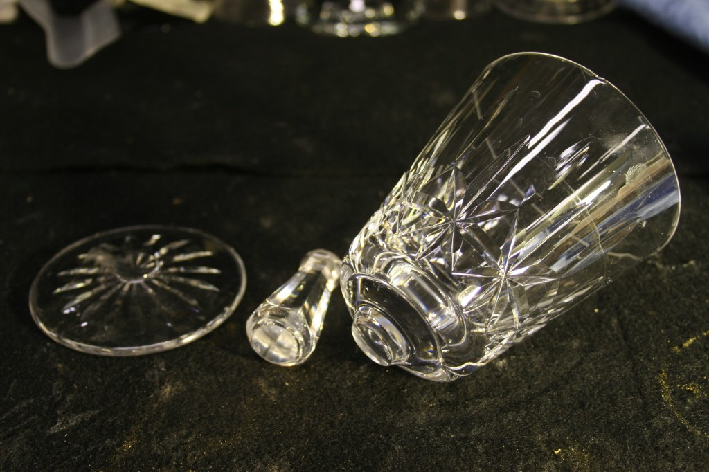 Waterford Crystal with broken stem