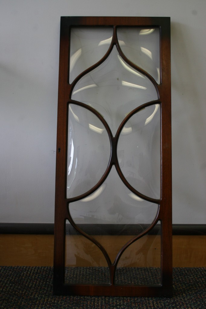 Antique Bubble Glass Door Crown