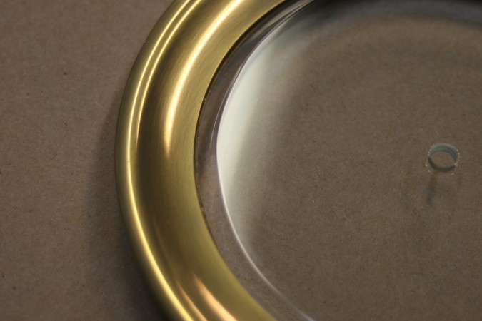 antique beveled glass lens