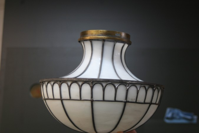 antique glass lamp restoration