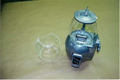 Antique gum ball machine
