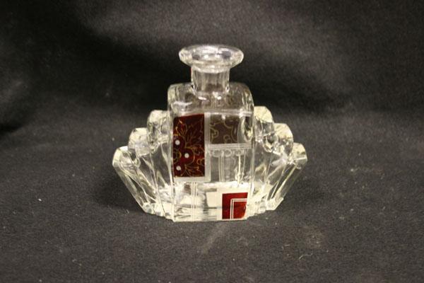 antique glass repair chip bottle