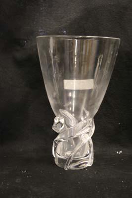 cloudy steuben crystal vase