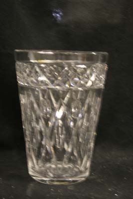 crystal vase  repaired