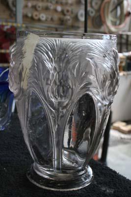 Verlys Art Deco Crystal Vase