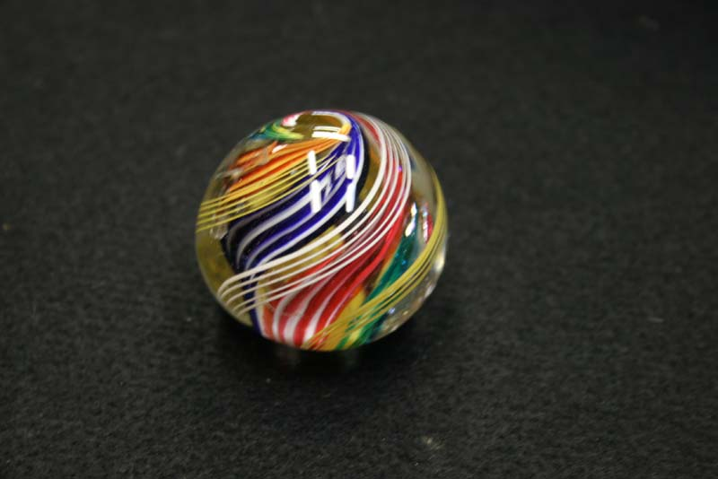 antique glass marbel repaired