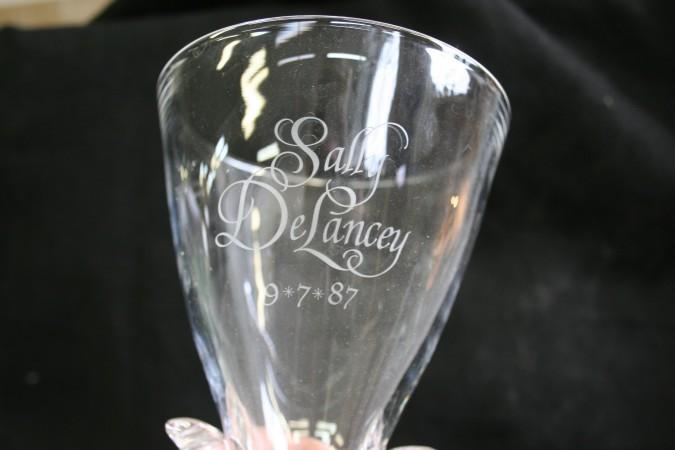 Steuben Vase With Engraving